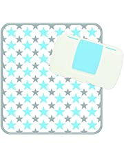 b.box Diaper Wallet   Shining Star Pattern Easy-to-Clean Changing Mat   Holds 2 Disposable Diapers Or a Change of Clothes   BPA-Free   Phthalates & PVC Free