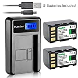 Kastar Battery (X2) & LCD Slim USB Charger for JVC BN-VF815 BNVF815 and Everio GC-PX10 GC-PX100 GS-TD1 GZ-HD300 GZ-HD320 GZ-HM1 GZ-HM200 GZ-HM400 GZ-MG630 GZ-MG650 GZ-MG670 GZ-MG680 GZ-MS120 GZ-MS130