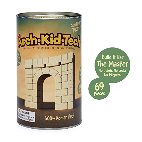 Taksa Toys Arch•Kid•Tech Roman Arch - Architectural Building Blocks Set for Learning History and Ancient Building Techniques]()