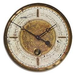Uttermost Leonardo Script Cream Wall Clock