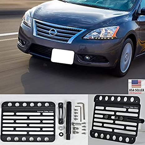 Amazon.com: Extreme Online Store for 2013-Up Nissan Sentra B17 Front Tow Hook License Plate Mount Relocator Bracket: Automotive