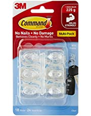 Command 17006CLR-VP Mini Hook and Strip, Clear