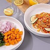 Hompiks Pasta Bowls Set of 4 Salad Pasta Bowls