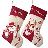 WEWILL Personalized Christmas Stockings Home Decorations Stockings for Family (Color 3)