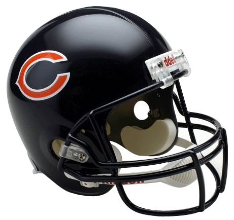 (NFL Chicago Bears Deluxe Replica Football Helmet)