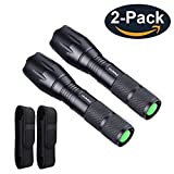 YAOMING High lumens Bright Portable LED Tactical Flashlight With Holster (2 Pack)