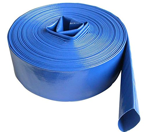 2'' inch 100' Feet Long Heavy Duty PVC Lay Flat Discharge Backwash Hose for Water Transfer Applications, 4 Bar Agricultural Grade Construction by SELLERS360