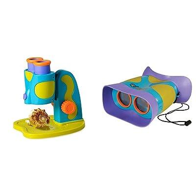 Educational Insights GeoSafari Jr. My First Microscope STEM Toy for Preschoolers & GeoSafari Jr. Kidnoculars: Kids Binoculars - Perfect for Preschool Science: Toys & Games
