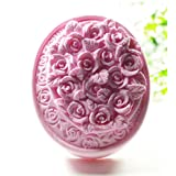 Longzang Rose Mould S432 Craft Art Silicone Soap Mold Craft Molds DIY Handmade Candle Molds