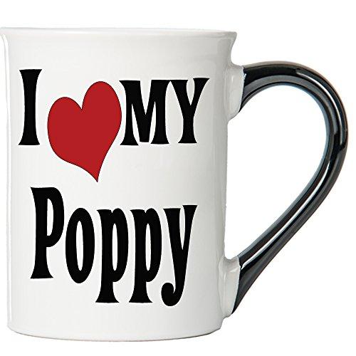 Cottage Creek Poppy Mug Large 18 Ounce Ceramic I Love My Poppy Coffee/Poppy Gifts Grandpa Gifts [White]