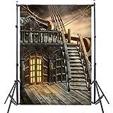 OMG_Shop 5x7ft Pirate Ship Vinyl Photography Backdrop Photo Background Studio