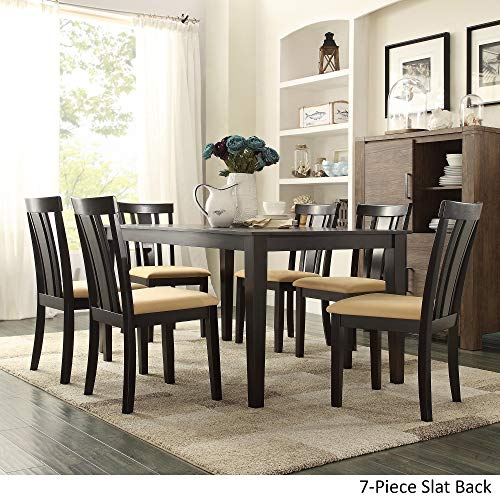 - Inspire Q Wilmington Black Dining Set by Classic Black - Slat Back Chairs 7 Piece 7-Piece Sets
