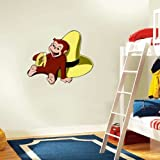 "Curious George Wall Decal Room Decor 25"" x 18"""
