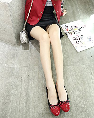 Cómodos De Fondo Mujer Verano Suave Del Conducción Arco Zapatos Minetom Planos Negro Ballet Fisos Bailarinas Flats Redondos Shoes 8XHxvqxdw