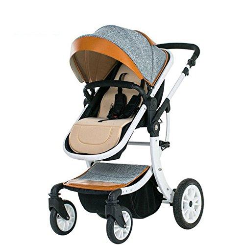 XINYU Cochecito De Bebé Alto Paisaje Puede Sentarse Bebé Reclinable Plegable Bicicleta Niños Recién Nacidos 0-3 BB Carro...