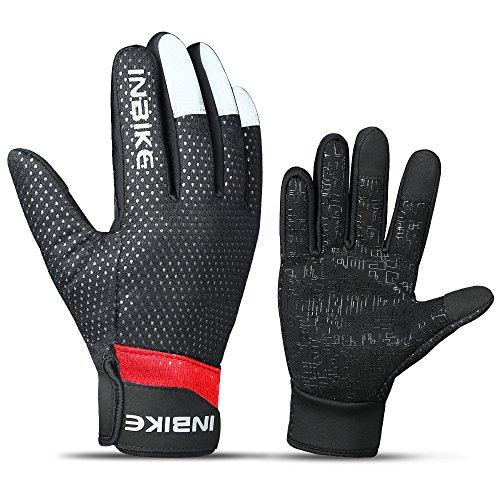 INBIKE Men's Winter Cold Weather Thermal Windproof Gel Bike Gloves
