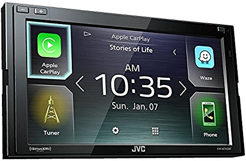 - JVC KW-M740BT Apple CarPlay, Android Auto 2-DIN AV Receiver (No CD Drive)
