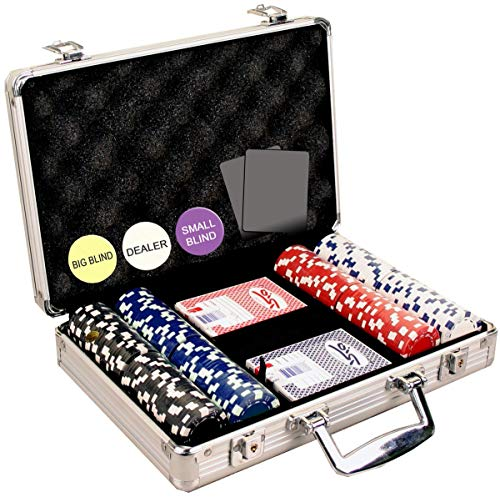 Gram Sets Poker Chips - Da Vinci 200 Dice Striped Poker Chip Set, 11.5gm