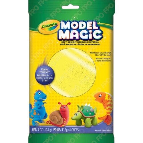 (Crayola Model Magic Clay Bag, Neon Yellow, 4-Ounce)