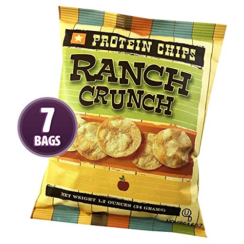 HealthSmart – Ranch Crunch Protein Diet Chips – High Protein – Low Calorie – Low Fat – Low Carb – High Fiber – Healthy Weight Loss Chips (7 Bags) Review