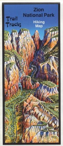 Zion National Park Panoramic Hiking Map (Map Of The Narrows In Zion National Park)