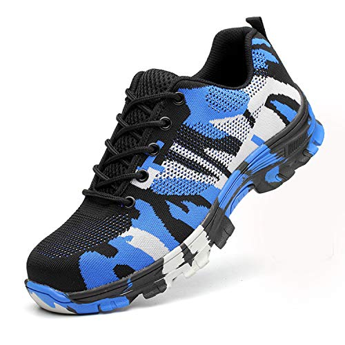 JACKSHIBO Steel Toe Work Shoes for Men Women
