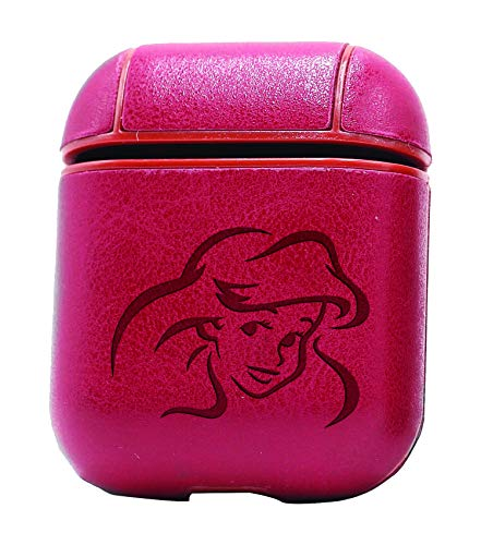 Princess Disney Ariel (Vintage Pink) Air Pods Protective Leather Case Cover - a New Class of Luxury to Your AirPods - Premium PU Leather and Handmade exquisitely by Master Craftsmen -