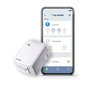 Leviton DW15A-1BW Decora Smart Wi-Fi Plug-in Outlet, No Hub Required, Works with Alexa, Google Assistant and Nest