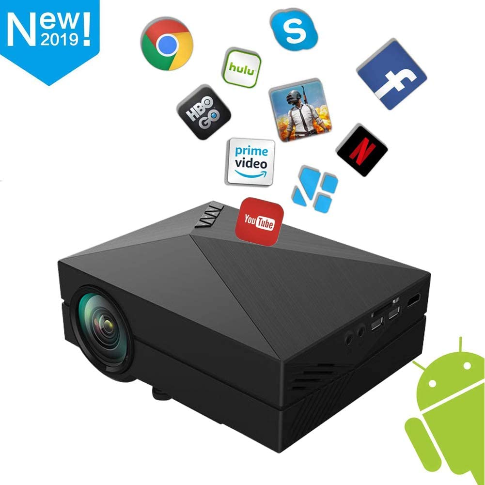 Proyector Inteligente, 1080P Full HD LED Mini proyector portátil ...