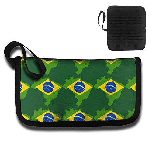 Brazil Flag Fashion Unisex Oxford Cloth Travel Wallet & Documents Organizer Zipper Case