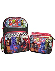 Five Nights at Freddys Large Backpack 16 and Lunch Box Set
