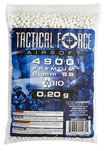 Tactical Force Bio Airsoft BB, 0.20g/6mm, White