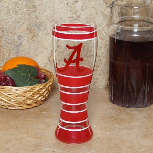 NCAA Alabama Crimson Tide 22oz. Hand-Painted Pilsner Glass