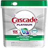 Cascade Platinum ActionPacs Dishwasher Detergent Fresh Scent 64 Count