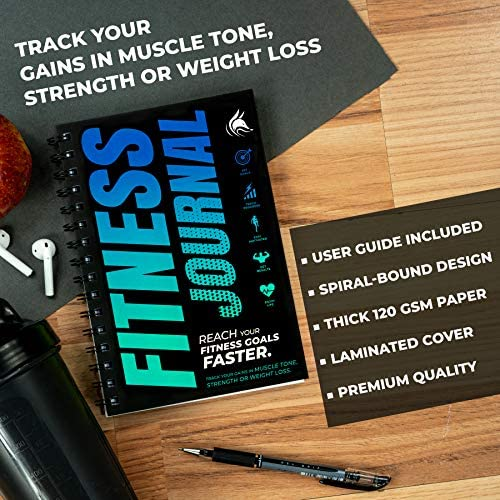 Clever Fox Fitness & Workout Journal/Planner Daily Exercise Log Book to Track Your Lifts, Cardio, Body Weight Tracker - Spiral-Bound, Laminated Cover, Thick Pages, A5 3
