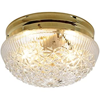 Af Lighting 671311 9 Inch D By 5 Inch H Diamond Cut Glass