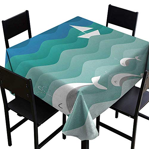 (Nautical Tablecloth for Square Table 70