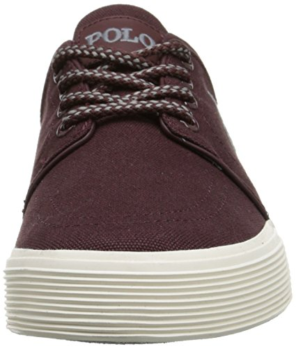 Ralph Lauren Mens Faxon Low SK VLC Textile Trainers Red
