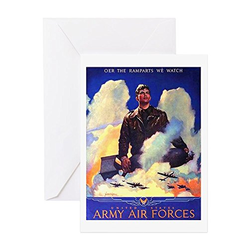 CafePress - Ramparts We Watch Air Force - Greeting Card, Note Card, Birthday Card, Blank Inside Glossy