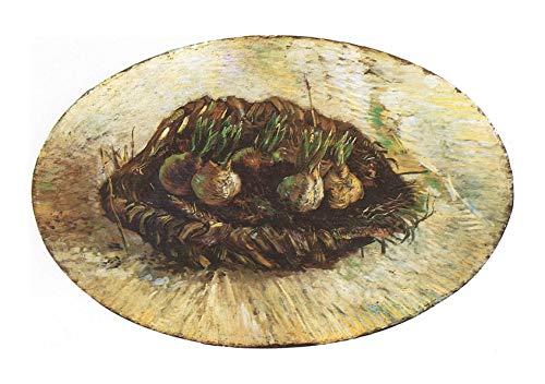 Spiffing Prints Vincent Van Gogh - Basket with Flowers-Bulbs, 1887 - Large - Archival Matte - Framed