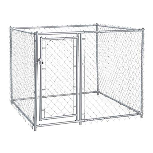 Lucky Dog Galvanized Chain Link Kennel (5' x 5' x 4')