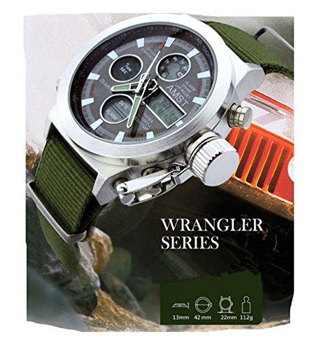 Genießen Armbanduhren Automatik Chronograph Wasserdicht Sportuhren für Sommer Urlaub Strand Sport Bergsteiger Armbanduhr (Grün)