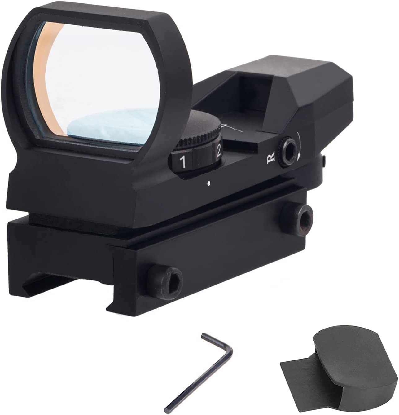 Taktisch Jagd Reflex 4 Reticle Rot Grün Leuchtpunktvisier Rail Gewehr Dot Sight