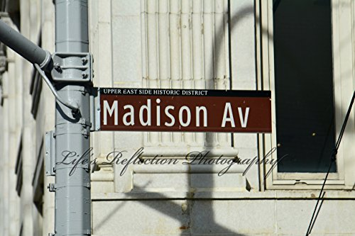 (Madison Avenue Street Sign, Home Decor, Wall Decor, New York City, Street Photography, Fine Art, Sizes From 5x7 To 20x30)