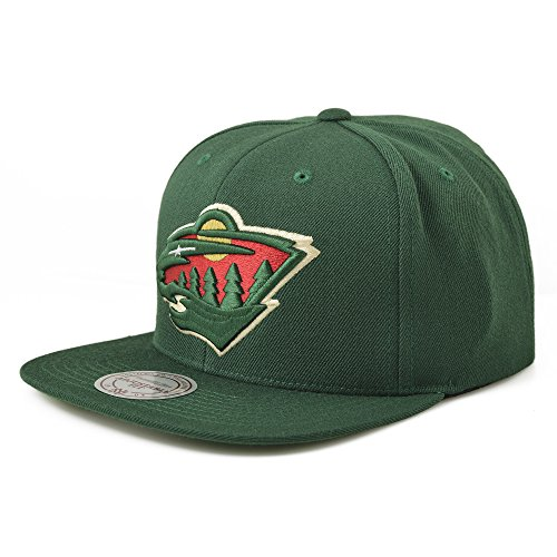 fan products of NHL Mitchell & Ness Vintage Wool Solid Snapback Hat (Adjustable, Minnesota Wild)
