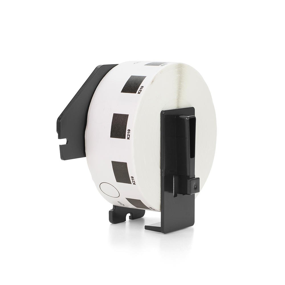 Save on Many Compatible Brother DK1219 / DK-1219 Die-Cut Round White Paper Label (Holder with each Roll), 0.47 in / 12mm, 1,200 Labels Per Roll for QL-500 QL-550 QL-570 QL-580N QL-650TD QL-700 QL-1050 QL-1060N QL-720NW QL-710W SaveOnMany