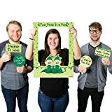 Big Dot of Happiness Twins Two Peas in a Pod Caucasian - Birthday Party or Baby Shower Selfie Photo Booth Picture Frame & Props - Printed on Sturdy Material
