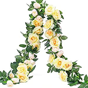 Party Joy Vintage Artificial Silk Rose Flower Bouquet Wedding Party Home Decor,Park of 10 25