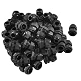 50 x Black Plastic Waterproof Connector PG11 5-10mm Diameter Cable Gland