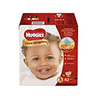 HUGGIES Little Snugglers Baby Diapers, Size 5, 62 Count